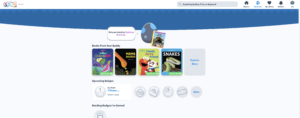 screenshot of Lalilo Product, showing books and setting a user goal, universal design user experience