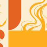 Personal Resonance article header, yellow and orange abstract colors and shapes